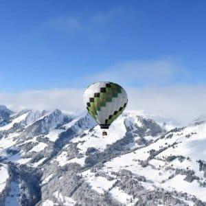 Vlucht met C-AIR ballonvaarten boven de Alpen