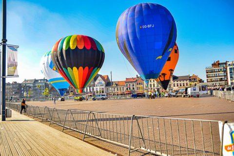 ballonvaart in de ochtend