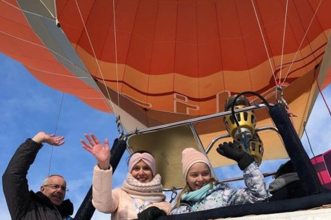 hoogtevrees in een luchtballon